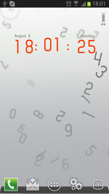 Synctimer as live background
