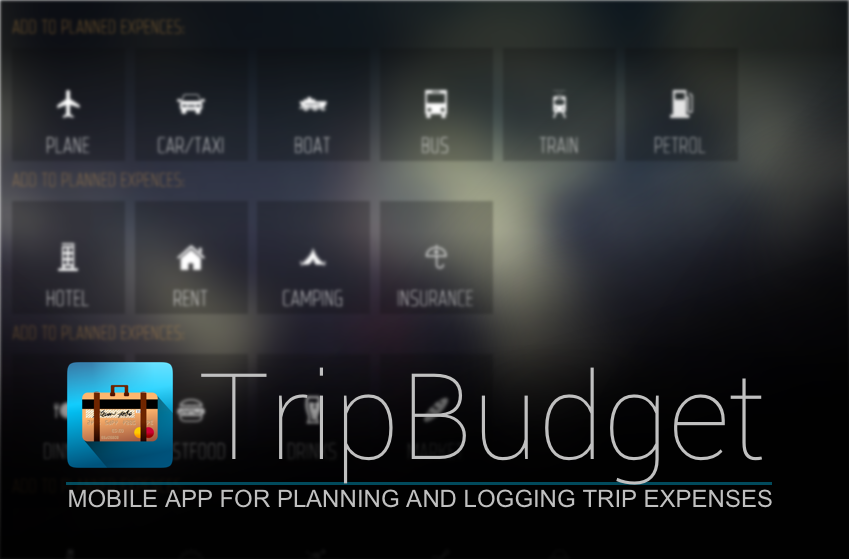 TripBudget – stylish budget calculator/logger for trips – BETA